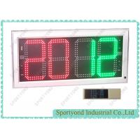 China Red And Green Player Substitution Board With White Frame Display Aluminum Housing on sale