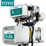 TOYO KD-1 Aluminum Body Three Phase 380V Electric Chain Hoist Hook Suspension Type