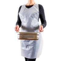 Best Eco Friendly White Plastic Aprons Disposable For Painting / Cooking wholesale