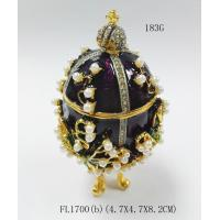 Best Hot sales egg shape jewelry box with crystal easter egg jewelry box wholesale