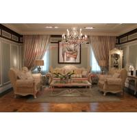 Best Luxury French-type Sofa set made by Wooden Carving Frame with Fabric Upholstery wholesale