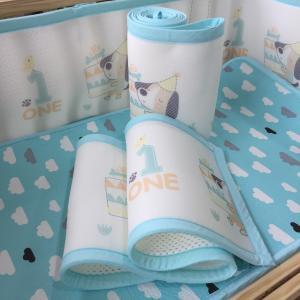 Best 3d breathable washable air mesh fabric crib bumper wholesale