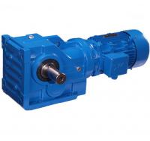 Best K Series Helical Bevel Gear Motor Speed Reducer  Blue Cast Iron Gear Box wholesale