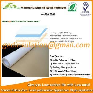 China PP film coated kraft paper with fiberglass scrim reinforced on sale