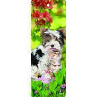 Best Custom Lovely Dog Lenticular 3D Animal Bookmarks With Tassel For Gifts And Souvenirs wholesale