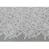 Best Water Soluble Embroidered Polyester Lace Fabric With Floral Lace For Dress Designer wholesale