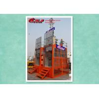 Quality Twin Cage High Efficiency Personnel And Materials Hoist 2 Ton Capacity For Construction wholesale