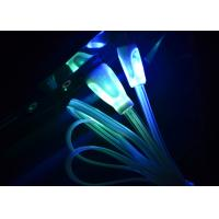 Cheap Blue Color Night Light Up Micro USB Charging Cable For Android Phones for sale