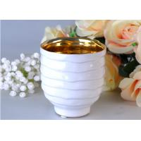 Best Votive Personalized Candle Holder Ceramic , White Porcelain Candle Holder wholesale