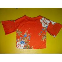 Best Floral Printing Womens Loose Fitting Tops Flare Sleeves Round Neck 100 Silk Blouse wholesale