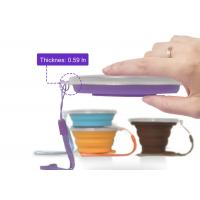 Best 9.22OZ Silicone Collapsible Travel Cup - Silicone Folding Camping Cup with Lids wholesale