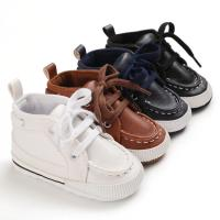 Best PU leather casual shoes cotton soft sole prewalker infant baby boy shoes wholesale