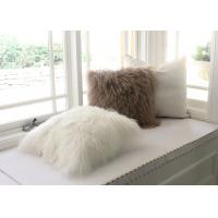 Best Real Tibetan lamb fur MONGOLIAN LAMB 24X24 EXTRA LARGE DECORATIVE FUR PILLOW wholesale