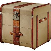 China Home Storage Bedroom Leather Trunks Chests1 Drawer Solid Wood Bar Decoration on sale