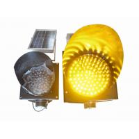 Best 200mm Waterproof Solar LED Traffic Light Durable , Yellow Solar LED Warning Light wholesale
