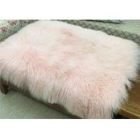 Best Mongolian Sheepskin Rug Home Decorative Throw Long curly Lambskin fur Plate wholesale