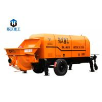 Cheap Stationary Mounted Electric Concrete Pump Trailer Large Capacity 80 M3 / H for sale