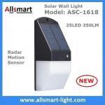 Best Solar Wall Light 25 LED Solar Garden Lights Decorative Fence Radar Sensor Motion Light Warm White Solar Fence Lights wholesale