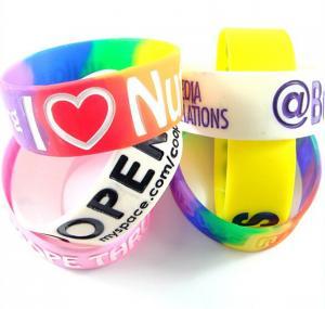 Best Colorful Wristbands Sports Silicone Bracelets Rubber Band Bracelet wholesale