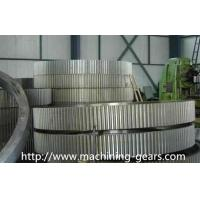 CNC Machined Large Stainless Steel Spur Gears Wheel For Ball Mill / Tube Mill