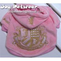 China Juicy couture embroidery pet hoodie on sale