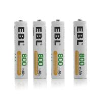 China 1.2 V 800mah Rechargeable Aaa Batteries , Button Top Aaa Rechargeable Cell on sale