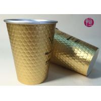 Best 12oz Diamond Shape Ripple Wall In Double Wall Layer Paper Cup With Lid wholesale