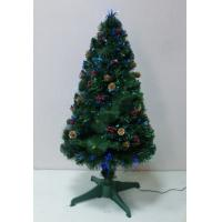 PINE CONE&BERRIES DECORATION OPTICAL FIBER TREE THICKNESS:0.07+0.07mm  LEAF WIDTH:10CM