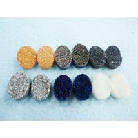 Best Jewellery Accessories Mix Color Oval Druzy Agate Jewelry 13 * 18 Mm For Decoration wholesale
