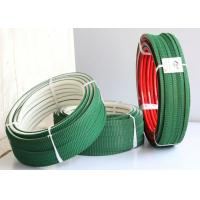 Buy cheap White PU polyurethane Super Grip Belt with Top green PVC Vee Corrugated belt from wholesalers