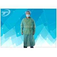 Best Knitted Wrist PP PE Disposable Scrub Suits Isolation Gowns Water Resistant wholesale