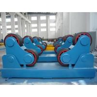 Yellow Cylinder Welding Turning Rolls / PU Pipe Rotators with 15Ton Loading