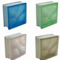 China Color Glass Blocks, Available in Different Designs and Sizes on sale