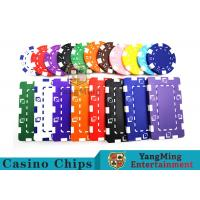 Best 11.5g - 32g Clay Poker Chips With Sticker With Unique Dice Fancy Mold Design wholesale