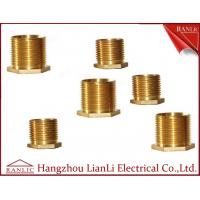 Cheap Brass Male Bush Brass Electrical Wiring Accessories Long Hexagon Head GI Thread for sale