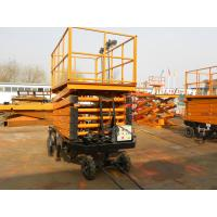 Buy cheap 14m Height Mobile Hydraulic Shear Fork Lift Scissor Work Lift Table from wholesalers