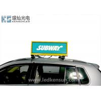 Best Usb Smd2727 1R1G1B Taxi Led Display Full Color 21kg 1/8 Scan 1200w wholesale