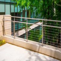 Cheap Stainless Steel Cable / Wire Railing / Balustrade with Round Post and Square Handrail for sale