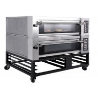 Best Double Deck Four Trays Electric Baking Oven Gas Deck Oven Steam Stone for Bakery wholesale