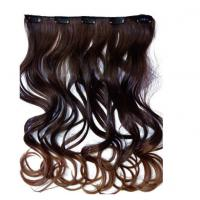 Best Silky Korea Clip In Synthetic Hair Extensions Heat Resistant Natural Looking wholesale
