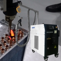 China Copper Tube Brazing Machine Induction Heating Equipment For Metal Brazing Welding on sale
