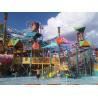 Aqua Park Water Playground Equipment With Fiberglass Spiral Water Slide