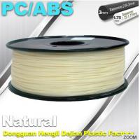 Best Natural Color 1.75mm PC / ABS 3D Printer Filament 1.3kg / Spool wholesale