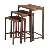 Best Dark Walnut Finish Rectangle Top 3 Piece Nesting Tables / Sofa End Tables wholesale