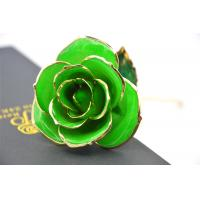 Best Green Gold Rose Flower 30*6cm , Real Rose Dipped in 24k Gold Open with Gift bag wholesale