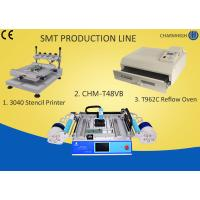 Quality 3040 Stencil Printer + Chmt48vb Table Top Pick And Place + T961 Reflow Oven , Smt Line wholesale