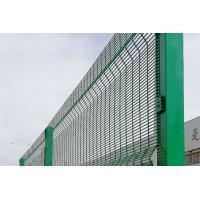 Best Green 358 Security Mesh , Prison Weld Mesh Security Fencing 1.8m-3.0m Height wholesale