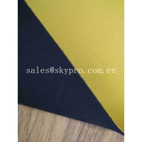 Yellow Heat Resistant Neoprene Fabric Roll 1mm SBR Rubber Sheets Coated