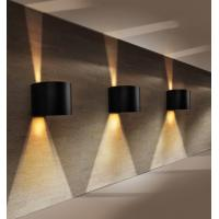 Best Round Aluminum COB 2x3W LED wall lights /outdoor led wall lamps for apartment wholesale