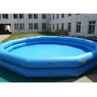Best Double Tube Inflatable Swimming Pool Blue Printed Plato Tarpaulin Materials wholesale